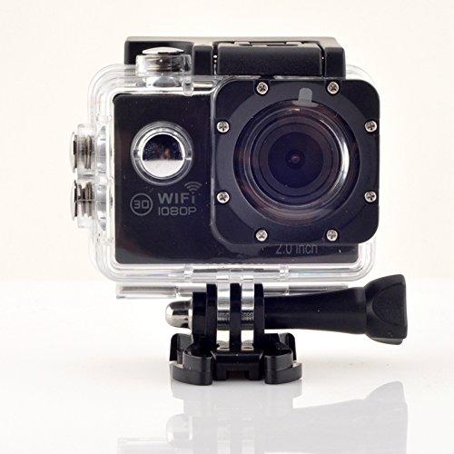 Unchained Warrior Action Cam impermeabile 1080P 12MP Wi-Fi 2.0'' Schermo LCD Full HD 170° obiettivo ultra grandangolare con batterie e kit di accessori