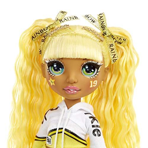 Image 3 - Rainbow High Poupée Mannequin Majorette. Vêtements élégants et pompons. Sunny Madison, Poupée Thème Jaune. Rainbow High série, cadeau parfait pour les filles de 6 ans et plus
