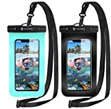 Syncwire Pochette Etanche Smartphone - Lot de 2- Housse Impermeable Telephone Portable, IPX8, Touch...