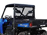 SuperATV Rear Windshield for 2013+ Polaris Ranger XP 900 / Crew | Lightly Tinted...