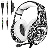 Gaming Headset for PS4, Xbox One Headset with Mic Noise Cancelling, 7.1 Stereo Surround Sound, Led...