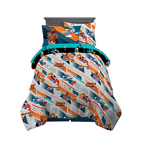 Franco Kids Bedding Super Soft Comforter and Sheet Set with Sham, 5 Piece Twin Size, Space Jam