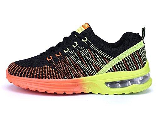 Zapatos de Running Para Hombre Zapatillas Deportivo Outdoor Calzado Asfalto Sneakers Negro Naranja 39
