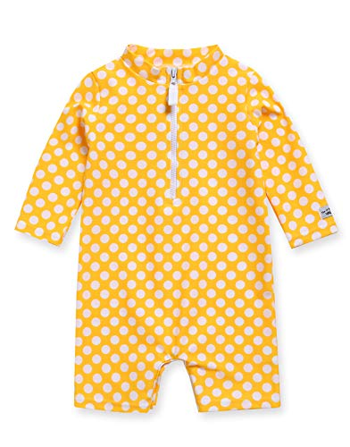 VAENAIT BABY 0-2T Infant Little Girls Swimsuit Onepiece Rashguard Swimwear Ocean Dot_Yellow_Baby XL