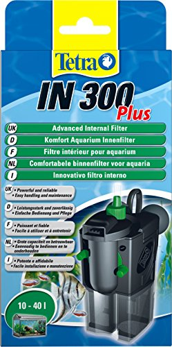Tetra IN 300 plus Innenfilter (zur biologischen und chemischen Filterung, stufenlose Regulierung der Durchflussgeschwindigkeit, geeignet für Aquarien mit 10 - 40 Liter)