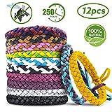 Bracelets Anti Moustique,AODOOR Premium Bracelets Anti-moustiques, Extérieure Intérieure 100% Naturel Bracelets Anti...