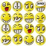 THE TWIDDLERS 24 Balles Anti-Stress Emoji Smiley   Soulager Le Stress Exercice des Doigts   Pinata Cadeaux Remplissage   Sac Cadeau Fêtes Bonbonniere   Anniversaire Halloween Petit Fete Sachets Jouet
