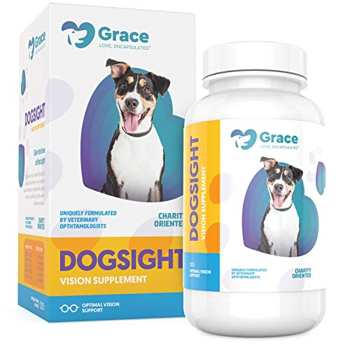Dog Eye and Vision Supplement - Omega 3 Fish Oil,...