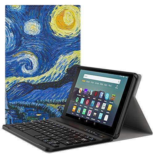 MoKo Kindle Fire 7 Tablet (9th Generation - 2019 Release Custodia, Tastiera Bluetooth Senza fili...