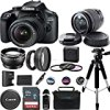 Canon EOS 4000D Digital Camera with EF-S 18-55MM F/3.5-5.6 III Lens + Advanced Accessories Bundle (International Version)