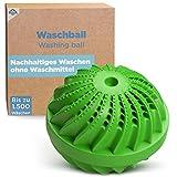 HOME DEPT Waschkugel Waschball für Waschmaschine - natürliche Wirkung durch Silberionen u. Mineralien. Öko Wäscheball - Nachhaltige Produkte und Ökologisches Waschen ohne Waschpulver.