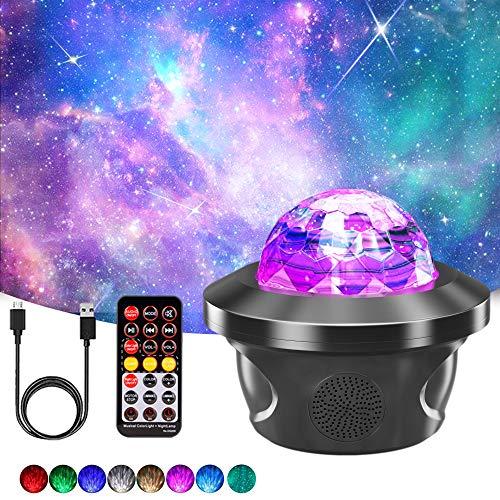 Proiettore Luce Stellato, LHBD Proiettore Stelle con 29 Modalit, Luce Notturna Led con Bluetooth Musicale/Timer/Telecomando, Proiettore Natale per Bambini/ Adulti/ Regalo