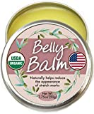 Organic Belly Balm - Natural, Made in USA, USDA Certified Stretch Mark Cream to Moisturize, Protect, Heal Skin Before & After Arrival