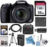 Canon PowerShot SX530 HS Wi-Fi Digital Camera with 32GB Card + Case + Battery & Charger + Tripod +...