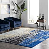 nuLOOM Waterfall Vintage Abstract Area Rug, 5' x 7' 5', Blue