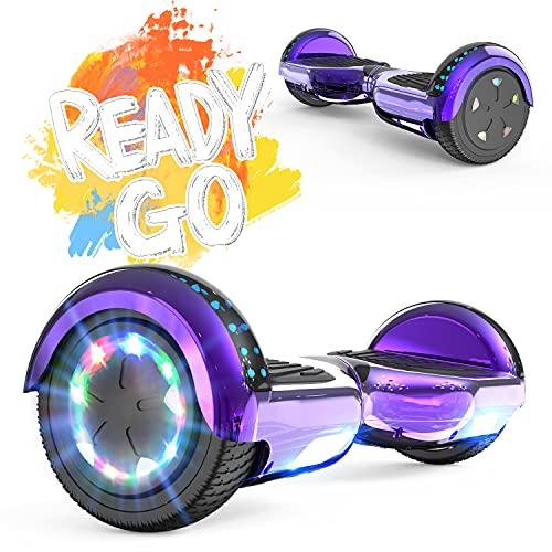 FUNDOT Hoverboards,Hoverboards pour Enfants,Scooter Auto-équilibré 6,5 Pouces,Hoverboards avec de Belles lumières LED,Hoverboards avec Haut-Parleur Bluetooth,Cadeau pour Enfants