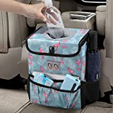 njnj Waterproof Car Trash Can Garbage Bin,Super Large Size Auto Trash Bag for Cars with Lid and...