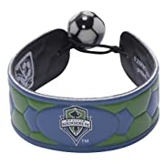 Genuine leather Made by Gamewear Great stocking stuffer Made from the same elements as a soccer ball One-size-fits-all Unique elastic soccer ball bead closure