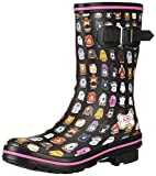 Skechers BOBS Women's Rain Check-May Flowers Boot, Bkmt, 8 M US