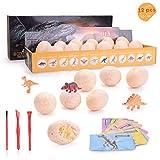 Colmanda Dinosaur Eggs, Giocattoli Ginosauri Mini Dinosauri Scavare Giocattoli Dinosaur Excavation Kit Discover 12 Cute Dino Models per Bambini Dinosaur Festa Compleanno