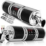 GoHawk RD8 Gen.2 Waterproof Bluetooth Motorcycle ATV Stereo Speakers Soundbar 7/8-1.25 in. Handlebar Mount MP3 Music Player Audio Amplifier System, AUX-in, USB, microSD, FM Radio