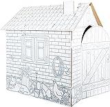 Maisonnette en carton à colorier à partir de 3 ans