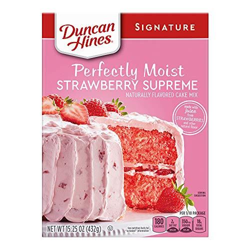 Duncan Hines Signature Cake Mix, Strawberry Supreme, 16.5 oz