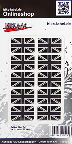Bike Label 300535N - Pegatina en 3D (31 x 20 mm), diseño de Bandera de Reino Unido