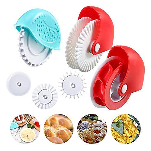 Utensile da cucina con rotella di plastica, Utensile da forno per bella crosta di torta o Ravioli Pasta Pizza Decorazione a reticolo di pasticceria (6PCS)