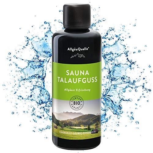 Saunaaufguss mit 100% BIO-Öle Erfrischung Lemongrass Orange Bergamotte (100ml). Natürlicher Sauna-aufguss m. ätherische Sauna-Öle im Aufguss-Mittel. Saunaöl natrurrein...