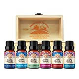 GuruNanda Top 6 Blends Essential Oil Set with Wooden Box - 100% Pure & Natural Therapeutic Grade Aromatherapy Oils Includes Tranquility - Breathe Easy - Immunity- Relaxation - Harmony - Calming Sleep