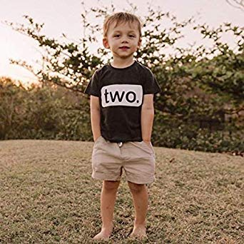 2nd Birthday Shirt boy 2 Year Old Toddler Kids Outfit Second Two t-Shirt Party