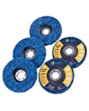S SATC Strip Discs 5PCS Bule Stripping Wheel 4-1/2' x 7/8' Fit Angle Grinder Clean and Remove Paint Rust and Oxidation