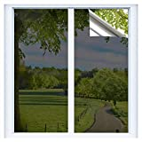RTTECH Window Film Privacy One Way Mirror Window Tint for Home Sun UV Blocking Heat Control Daytime Privacy Solar Film Static Cling for Residential Office 17.5x78.8 Inches Black-Silver
