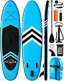 FITPULSE Paddle Board Inflatable Paddle Boards for Adults Inflatable Sup Inflatable Stand Up Paddle Board Inflatable Paddle Board 10 Ft Stand-Up Paddleboards