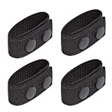 LUITON Duty Belt Keeper with Double Snaps for 2¼' Wide Belt Security Tactical Belt Police Military Equipment Accessories (Set of 4)