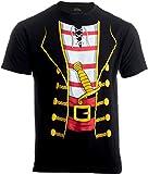 Pirate Buccanneer | Jumbo Print Novelty Halloween Costume Unisex T-Shirt-Adult,M Black