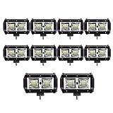 10 pcs 96W 5 Inch Projecteur LED Lampe de travail Barre pour ARRET - Air...