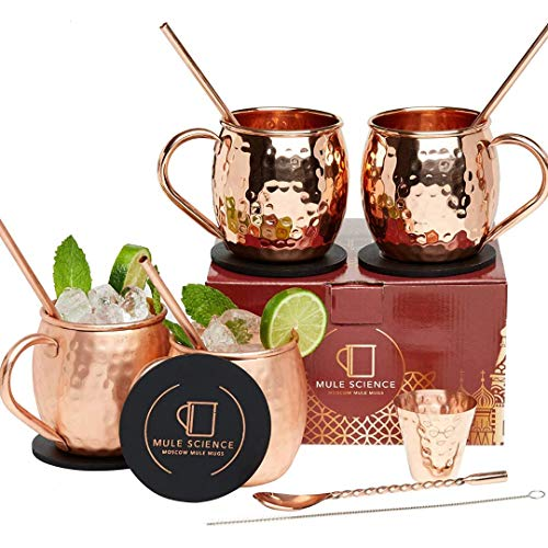 Moscow Mule Copper Mugs – Set of 4