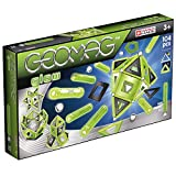 Geomag - GLOW - 104-Piece Glow-in-the-Dark Magnetic Building Set, Certified STEM Construction Toy, Safe for Ages 3 and Up (Toy)