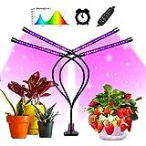 Lmpara de Plantas,45W Lmpara de cultivo de plantas con espectro completo de tipo solar con temporizador 3H/9H/12H, luz artificial para plantas de germinacin, plntulas, floracin y fructificacin
