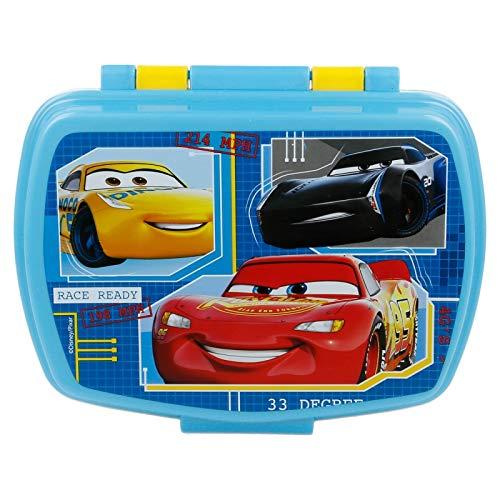 | Cars - Disney | Sandwichera Para Niños Decorada - Fiambrera Infantil | Caja Para El Almuerzo Y Porta Merienda Para Colegio - Lonchera