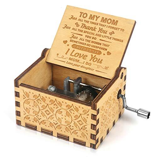 Music Box Hand Crank Engraved Musical Box-U R My Sunshine...