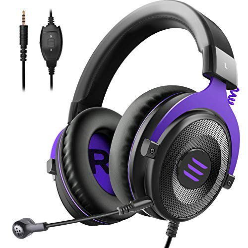 EKSA E900 Gaming Headset for Xbox - PC Headset Wired Headphones with Detachable Noise Canceling Mic, Over Ear Headphones Compatible with PS4/PS5 Controller, Xbox One, Nintendo Switch, PC, Mac, Laptop