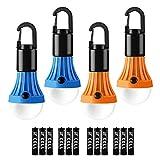 LE Lanterne de Camping, Lampe Camping à Piles (Inclus) 3 Modes d'Éclairage 80-140LM, Ampoule LED Portable...