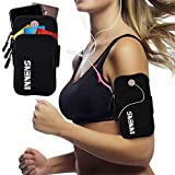 Innens Water Resistant Cell Phone Running Armband for iPhone 11, 11 Pro, 11 Pro Max, X, Xs, Xs Max, Xr, 8, 7, 6, Plus, Galaxy S20 S10, S9, S8, S7, Plus, Adjustable Band and Earphone Jack
