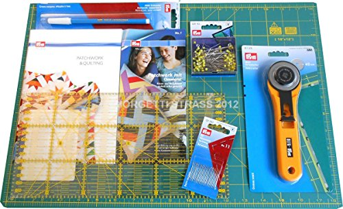 Prym Starter Kit per Patchwork Tappetino Tappeto Grande 90cm x 60cm autorigenerante taglierino...