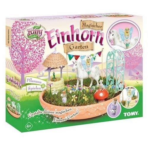My Fairy Garden, Tomy, Set di Gioco con Giardino e Magico Unicorno, per Bambini a Partire dai 4Anni, con inclusiSemi di Erba