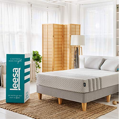 Leesa Luxury Hybrid 11 Inch Mattress, Innerspring and Premium Foam, Queen