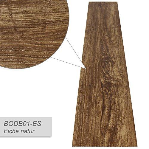 Jago Pavimento adesivo laminato pavimentazione pvc 7 assi copertura di 0,975 m colore quercia...